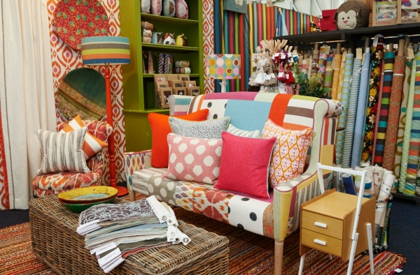 Fabric paradise... Dont limit your patterns and go too matchy-matchy. Polkat dots, ikats and stripes make great company.