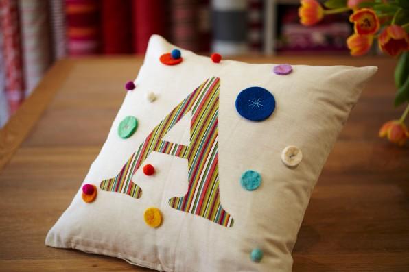 Applique cushion from www.nochintz.com