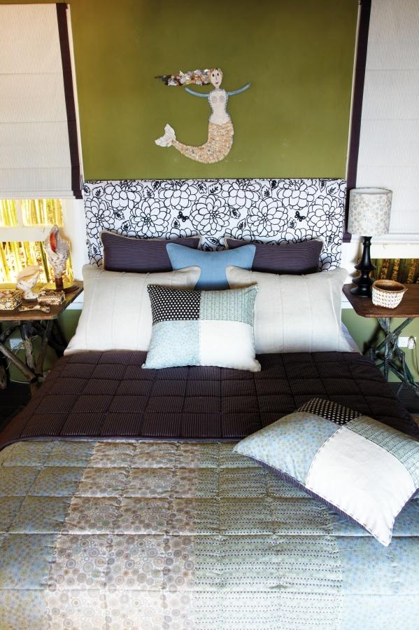 No Chintz Bedhead and Cushions