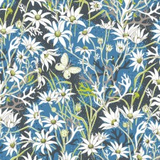 Let Nature do the talking. Flannel Flower fabric is a part of the new Australiana Native Collection available in-store at No Chintz.