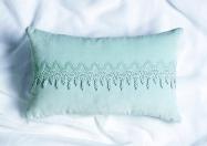 Embroidered Rectangle Cushion www.nochintz.com