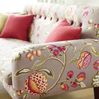 Melograno fabric can be used on a sofas, curtains, cushions and more.