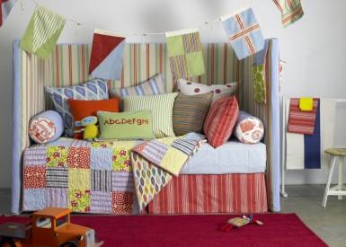 Big Dot, Bindi, Mosaic, Umbrella, Catstripe available at http://www.nochintz.com/fabric