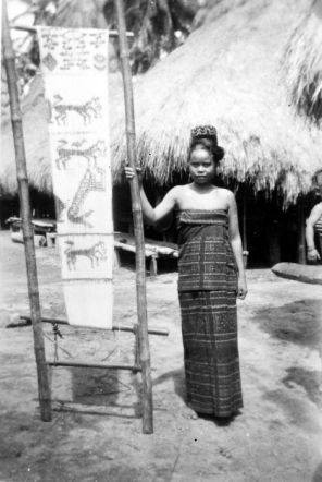 Traditional Ikat sari. Image courtesy of Tropenmuseum of the Royal Tropical Institute.