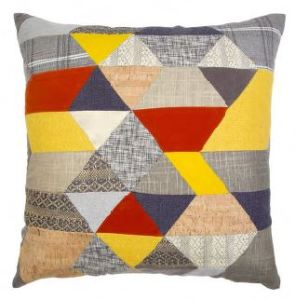 Mosaic Patched Large Cushion in Multi.