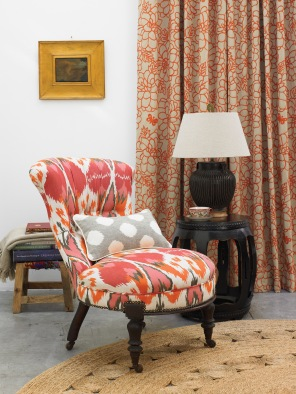 Cashew Nut Love Upholstered Chair.