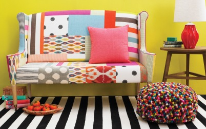 Ikat Spot, Cashew Nut Love, Mosaic, Allsorts Stripe and Big Dot available at http://www.nochintz.com/fabric/