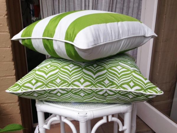 No Chintz Outdoor Cushions.
