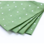 Napkins in Tinsel Spot Green