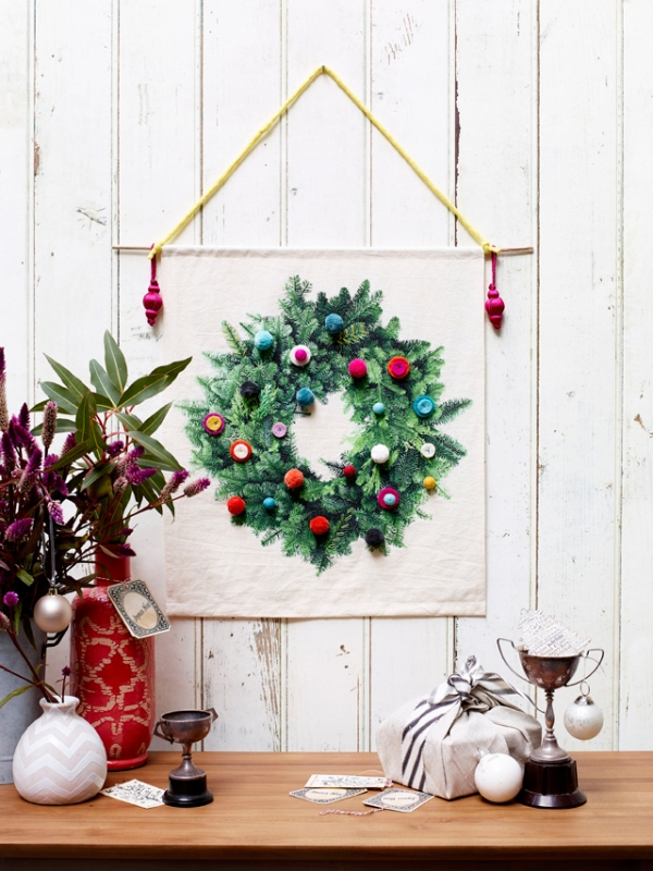 No Chintz Digitally Printed Wreath