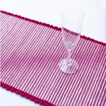 Table Runner, Tinsel in Fuchsia