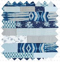 Summertime Blues Kit DIY Quilt Swatch