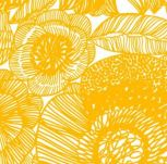 Marimekko Kurjenpolvi in Yellow