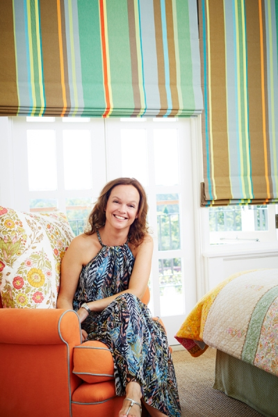 Emma Welman in a client's home the No Chintz created the interior look for.