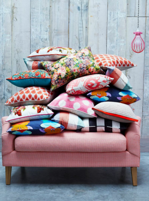 Assorted designer cushions